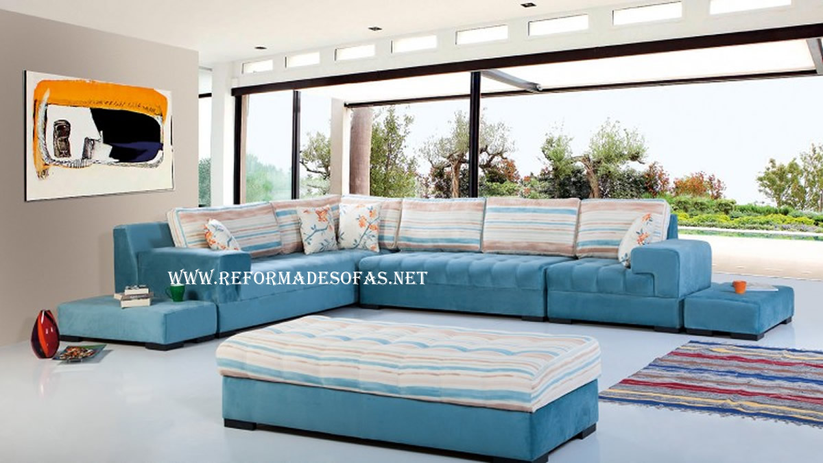 Tapeceiro online sofas for Sofa azul turquesa